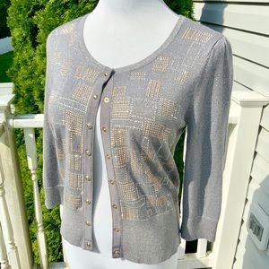 Decorative Snap-Front Cardigan from WHBM